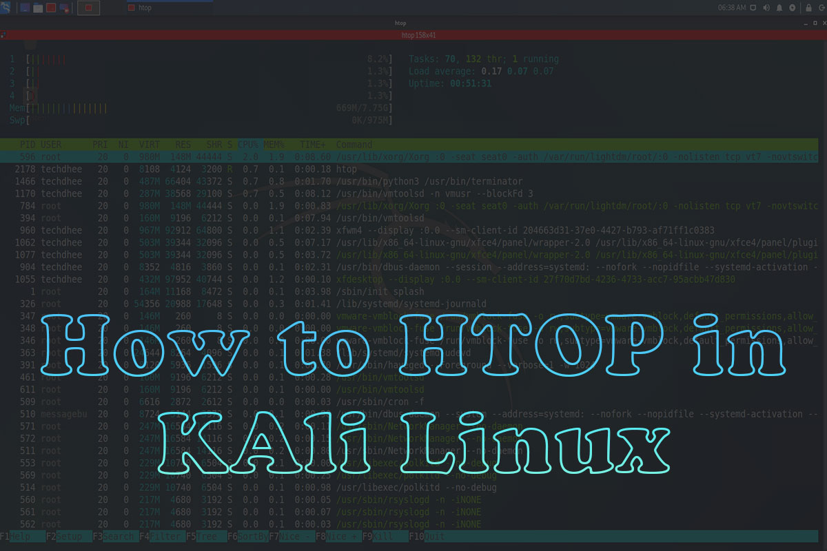 How To Install HTOP in Kali Linux