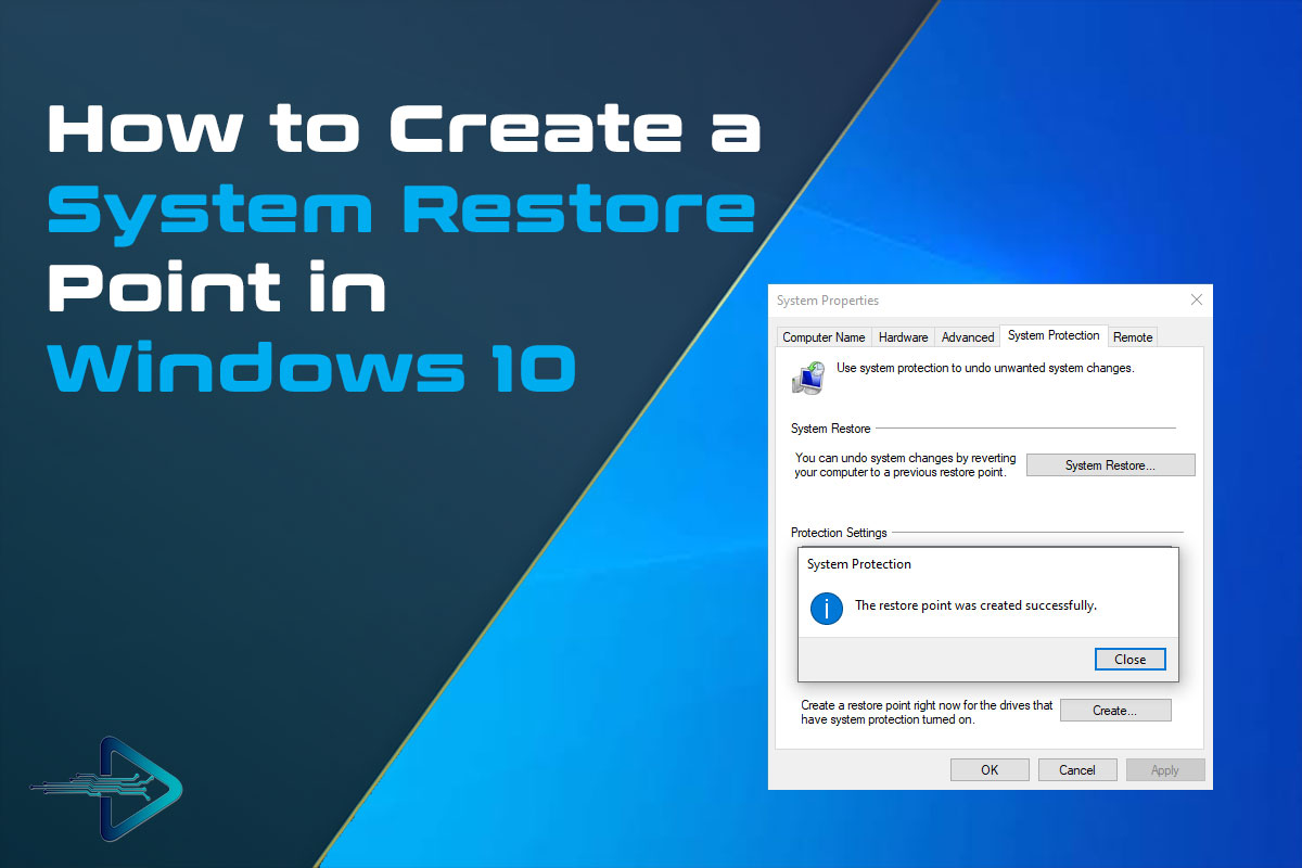 How to Create a System Restore Point in Windows