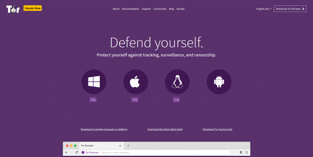 Tor Browser for Privacy and Anonymously use the internet using tor network