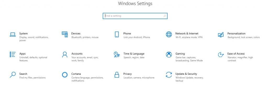 Windows-Settings-win+i