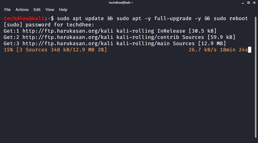 Kali Linux Update Command