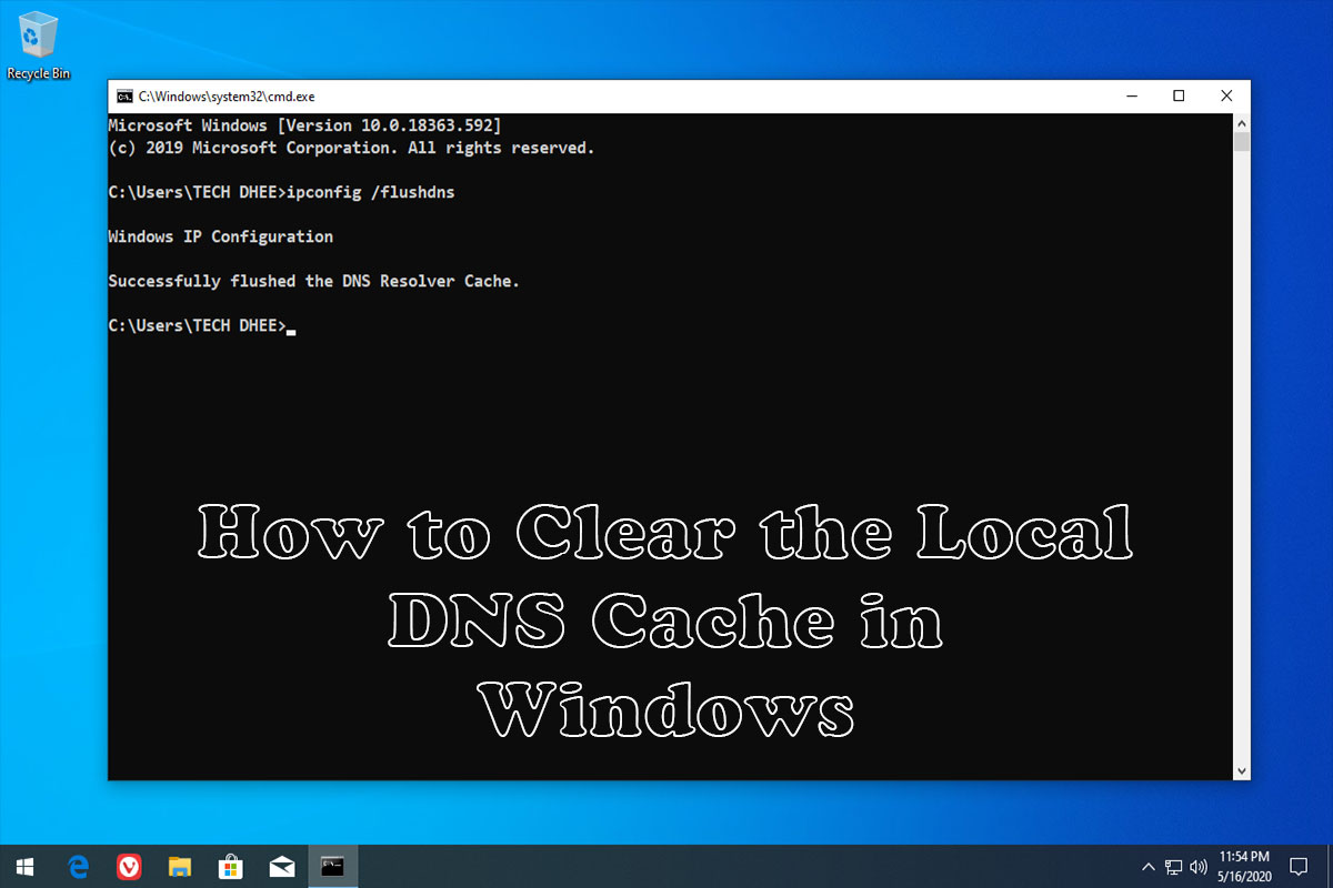 How to Clear Local DNS cache