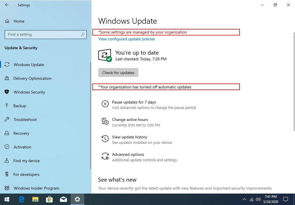 turn off automatic update in windows 10
