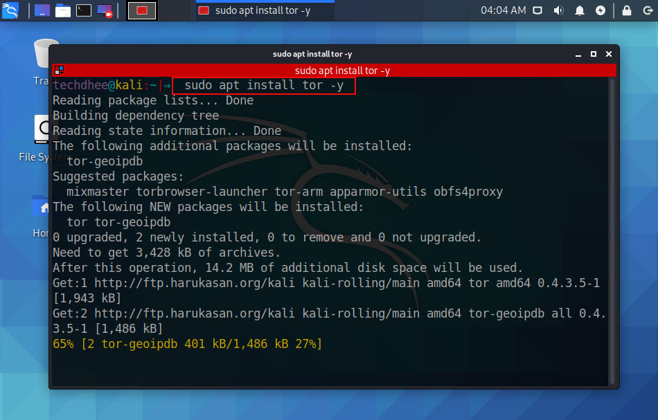 How to install Tor in Kali Linux