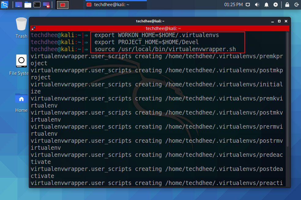 Installation MITMf virtualenvwrapper.sh script