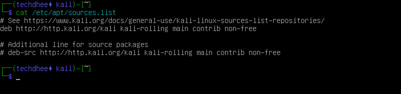 Kali Linux Repository File