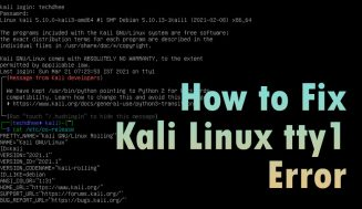 How to Fix Kali Linux tty1 Error – No GUI in Kali Linux 2021.1